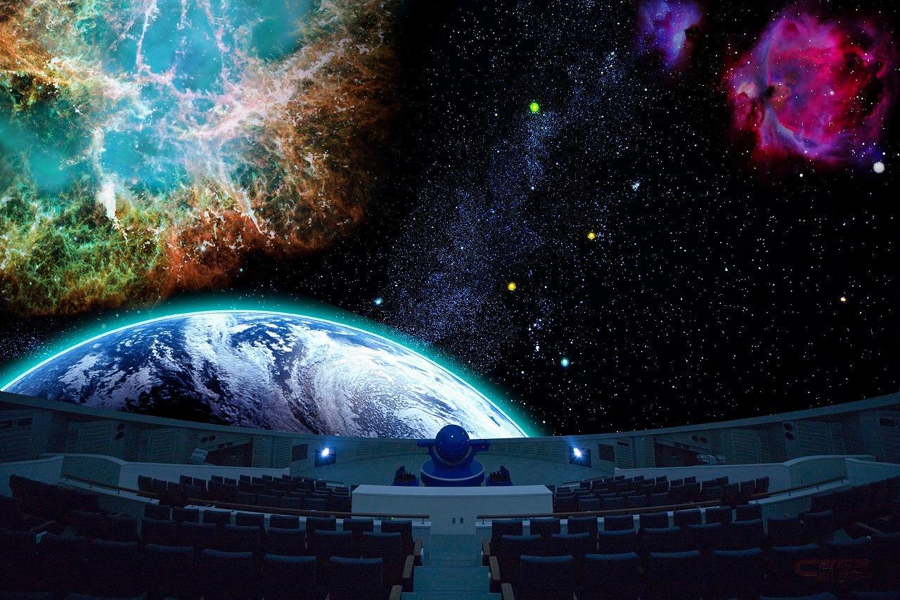 世界最大級のプラネタリウム 写真提供:(公財)つくば科学万博記念財団