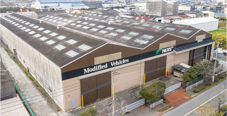 ナッツRVの北九州工場俯瞰