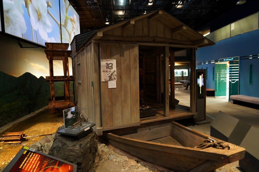 展示室の中では荒川にまつわる様々な暮らしの風景を見ることができる