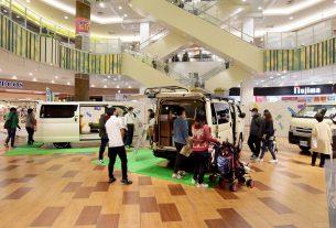 イオンレイクタウンで開催されたグリーンバディ披露イベントの模様