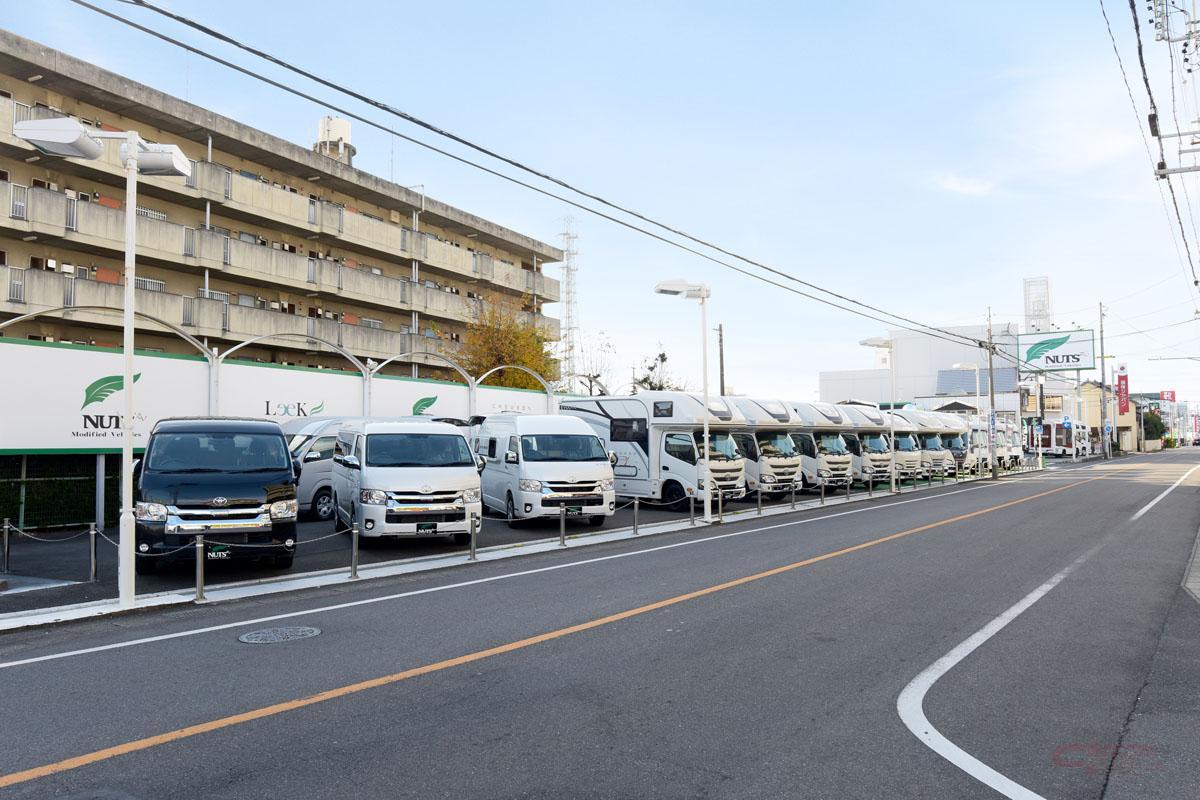 ナッツRV名古屋一宮店の大型展示場