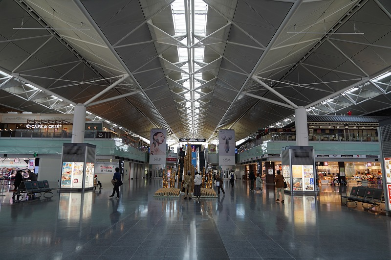 中部国際空港セントレアは忍者や侍が至るところにデザインされている