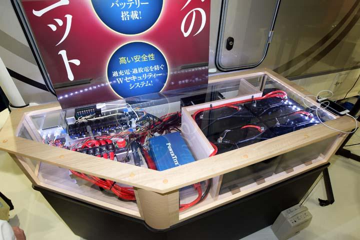 電装システム「ハイパーEVO」の展示